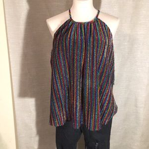 Altered state rainbow halter top